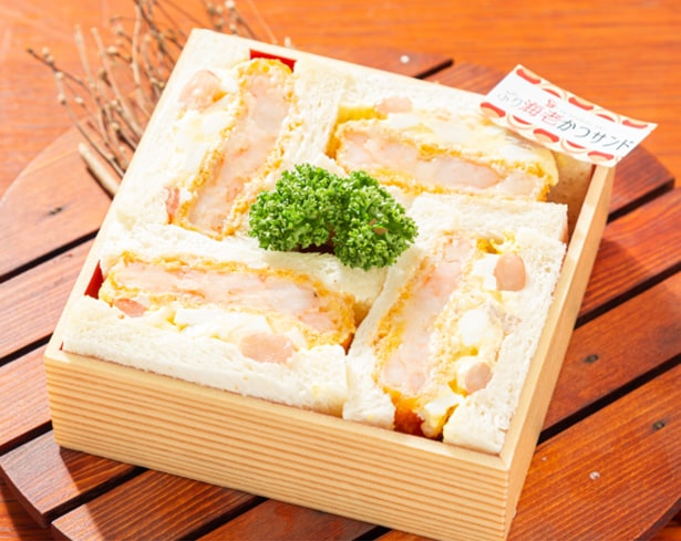 海老好きには堪らない「ぷり海老カツサンド(890円/税込)」